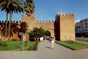 Morocco-ancient city wall in Rabat