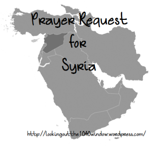 Syria-Prayer Request